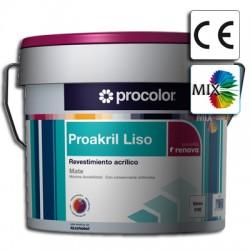 Proakril Liso Mate Mix - Revestimiento 100% acrílico.