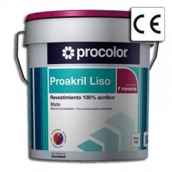 Proakril Liso Mate - Revestimiento 100% acrílico.